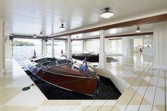 Gorgeous boathouse.