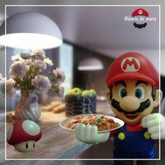 #mario #mariobros #game #gamer #games #videogame #marioworld #nintendo #bandai #fun #diversão #entretenimento #entertainment #kids #man #woman #bandainamco #figuarts #actionfigure #playstation #xbox #retro #food #lunch #dinner #pasta #hot