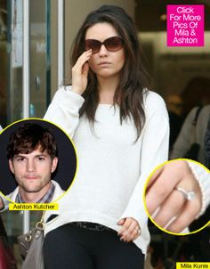 Mila Kunis' Engagement Ring! The star is the latest to sport a gigantic rock on THAT finger.
