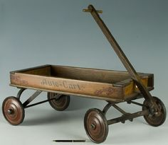 Auto-Cart wooden 1920's childs wagon
