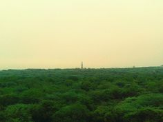 At the guard tower in Sanjay Van (forest). The windy weather was a good respite. Peace. #Delhi #Rains #Monsoon #Windy
