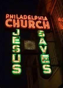 Tacky sooooo tacky, church neon?  Vintage Neon Signs