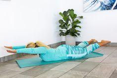 Träna ryggen hemma –5 enkla övningar | Allas.se Yoga Fitness, Health Fitness, Sciatica Exercises, Bean Bag Chair, Workout, Inspiration, Wellness, Anatomy, Ann