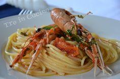 Spaghetti con gli scampi (ricetta passo-passo):è un primo piatto squisito. E' una ricetta estiva, facile, veloce e semplice !