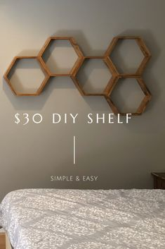 DIY Hexagon Wall Shelves honeycomb. Love these, so versatile and cute! Plus easy to make!