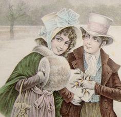 Vienne Style Couple in Snowy Landscape New Year Postcard   eBay