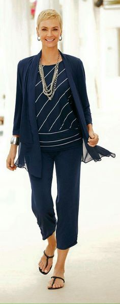 I am tried of Navy Blue, but like the lightweight fabrics and style. It would be best if outfit colors were interchangeable.
