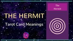Hermit Tarot Card Meanings The Hermit Tarot, Free Tarot, Tarot Card Meanings, Meaningful Life, Major Arcana, Tarot Cards, Meant To Be, Videos