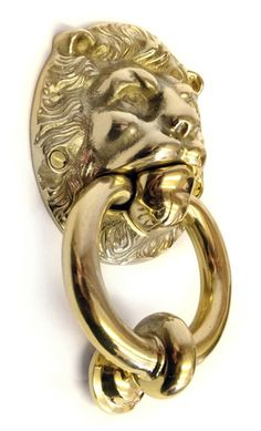Brass Lion Head Door Knocker - Original design made in 1876, this is a superb quality, solid brass, lions head door knocker. Unsurapssable British quality, also available in cast iron.