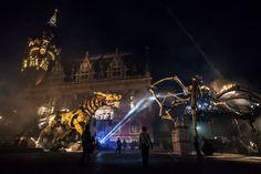 Calais, samedi soir devant la mairie.