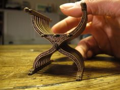 How it's made. So impressive!  (I LOVE this style of chair.  If I cannot have one for real, I will have one in miniature!)