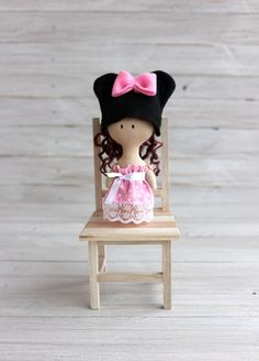 Rag doll Mickey Mouse Mini Doll Mickey Mouse doll doll by NatsDoll