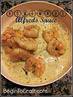 Homemade Shrimp Alfredo