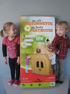 Fun for Kids & Eco-Friendly! Cascades My Pretty Playhouse. - Journeys of the Zoo Activities For Kids, Crafts For Kids, Win Free Stuff, Online Contest, Kids Usa, Play Houses, Giveaways, Cool Kids, Toy Chest