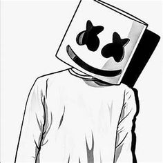 Marshmallow Farbseite # Farbseite # Marshmallow - My CMS App Drawings, Art Drawings For Kids, Pencil Art Drawings, Cool Drawings, Drawing Sketches, Graffiti Wallpaper Iphone, Eagle Wallpaper, Dj Marshmello, Marshmello Helmet