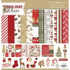 Photo Play 12x12 Paper Kit Holiday Cheer by PNWCrafts on Etsy