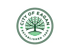 City of Eagan Branding - We had the opportunity to partner with the City of Eagan on a large rebranding effort that included all city-owned sub-brands. Collateral Design, Branding Design, Typography Logo, Typography Design, Logo Inspiration, City Logo, Badge Design, Icon Design, App Logo