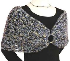 Ravelry: Black Magic Shoulder Shrug pattern by Caron International Yarns