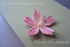 Quilling Seasons: СакураSakuraБърза снимчица на цветче на японска ви...