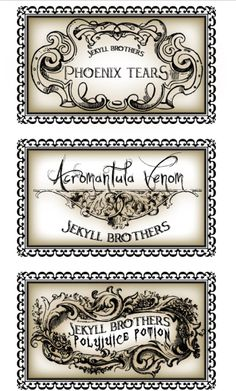 graphic about Harry Potter Apothecary Labels Free Printable named 167 Perfect Harry Potter Potion Labels visuals in just 2017