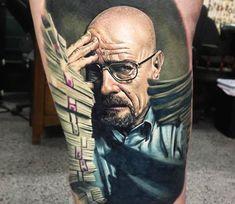 Walter White tattoo by Ben Kaye