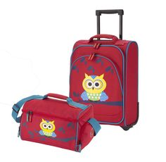 Travelite Youngster Kindertrolley Set mit RT 2tlg Eule