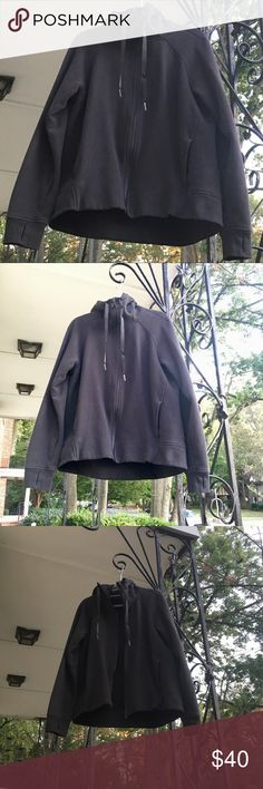 Lululemon black hoodie Lululemon black hoodie. Only worn twice!! Like new condition. Falls at the hips. Thumb holes and pockets. Soft cotton material. Perfect for Fall, Winter and Spring! Size 10. #lululemon #hoodie #black #soft #cozy lululemon athletica Tops Sweatshirts & Hoodies
