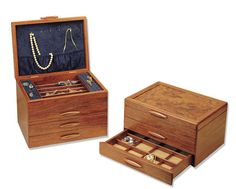 Prairie Ii Wooden Jewelry Box By Michael Fisher