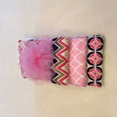 Burp cloths made out of pre-fold diapers, set of three by babiesallaround on Etsy
