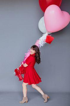 Balloon Set: Heart Balloons Photography, Pink Photography, Birthday Photography, Valentines Day Party, Valentines Day Decorations, Be My Valentine, Balloon Tassel, Balloon Bouquet, Adult Cake Smash