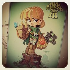 Gully with a little Zelda wind waker flavour. IG version. For my new art book.