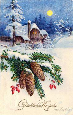 Gallery.ru / Фото #22 - Старинные Рождественские открытки - modistka