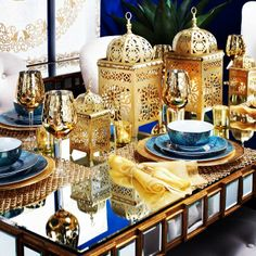 Click to get the look for this sapphire spring table from our new look book.