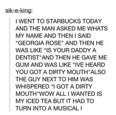 HAHAHAHAHA<<<>OMG. THIS IS AMAZING. WHY CAN'T THIS HAPPEN TO ME?<<< well did you go to taco bell and say ur name was Bertha i think not sooo nerds to u