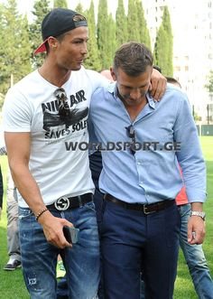 Andrey Shevchenko and Cristiano in Tiflis for the opening ceremony the FC Dinamo Tiflis Childrens Academy, 07.07.2013