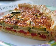 pâte brisée, poireau, courgette, poivron rouge, oeuf, crême fraîche, Poivre, Sel, concentré de tomate, Huile d'olive, beurre,...