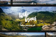 """Wide Visions"" - landscape panoramas by Madebyvadim on Creative Market"