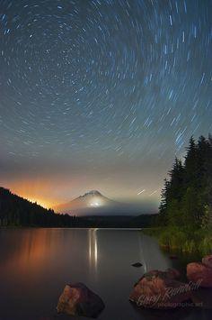 ~~Night Lights ~  star trails at Trillium Lake, Oregon by Gary Randall~~