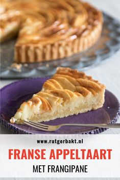 This French apple pie not only looks insanely beautiful, it is also . Sweet Desserts, Delicious Desserts, Yummy Food, Dutch Recipes, Apple Recipes, French Apple Pies, Sweet Pie, Good Foods To Eat, Pie Cake