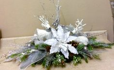 Christmas Swags, Christmas Flowers, Christmas Mantels, Christmas Holidays, Christmas Flower Arrangements, Floral Arrangements, Xmas Decorations, Flower Decorations, Winter Centerpieces