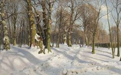 Peder Mørk Mønsted - how snowy can snowscapes get?