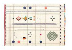 """""""Rabari 1"""" es una alfombra de diseño producida por Nani Marquina, diseñada por Nipa Doshi + Jonathan Levien y fabricada con lana de Nueva Zelanda"""