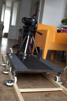 Ikea hack turns into awesome DSLR video dolly, perfect for all those cinema quality home movies I've been planning