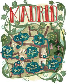 Julia Sonmi Heglund - map of Madrid for Jamie Magazine