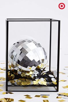 New Year Inspiration! 364 days a year, it brings the hustle to your disco party, but one night a year it makes the perfect New Year's centerpiece. You'll be tempted to take a Shiny Silver Selfie in its reflection. Yes. That's happening.