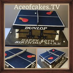 Table tennis table cake