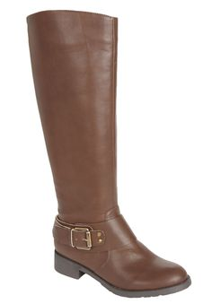 Plus Size Peggy wide-calf biker boot by Comfortview® | Plus Size Boot Sale Up to 65% Off | Jessica London