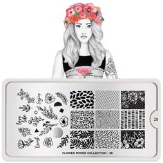 Nail art stamping is easy to do with MoYou Plate Flower Power Create different nail art on your nails with our extensive range of stamping plates. Floral Nail Art, Floral Wall, Floral Prints, Nail Stamper, Nail Art Stamping Plates, Moyou Stamping, London Nails, Nail Art Images, Image Plate