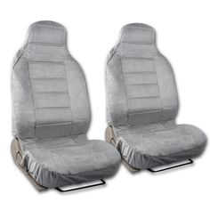 BDK Universal Fit 2-piece Scottsdale Fabric High Back Bucket Seat Deluxe Front Car Seat Covers (