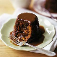 Sticky toffee pudding. Not made with toffee at all! Dates provide the sweet stickiness!
